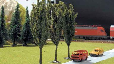 PIKO 55742 — Тополя (3 дерева, ~115мм), 1:72—1:120
