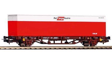 PIKO 57762 — Фитинговая платформа с 40 футовым контейнером, H0, VT, ÖBB