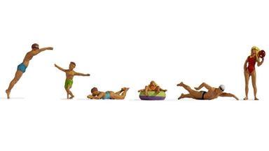 NOCH 15849 — Пловцы, купающиеся и фигуры на воде, 1:87