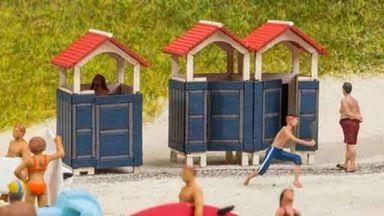 NOCH 14261 — Пляжные кабинки, 1:72—1:100, Laser-Cut