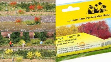 HEKI 1804 — Травы желтые и красные (~5-6мм 100 пучков), 1:72—1:200