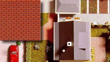 BUSCH 7038 — Клинкерный кирпич (2 листа картона ~210×148мм), 1:72—1:120