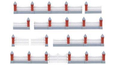 KIBRI 38630 — Забор каменный c 3-мя воротами (~770мм), 1:72—1:100