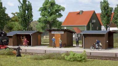 AUHAGEN 11415 — Сельский остановочный пункт «Unterschönbach» (3 строения), 1:87