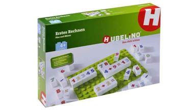 HUBELINO 499868 — Мозаика Hubelino «Цветные цифры» (1 пластина и 70 кубиков)