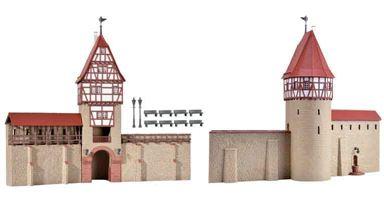KIBRI 38914 — Стена с башней, 1:72—1:100