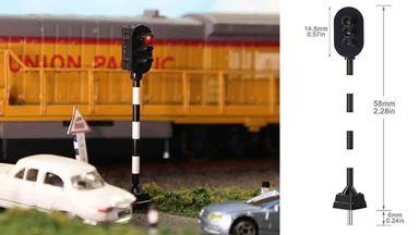 CMOD SIG087 3-LED — Светофор мачтовый 3-х сигнальный (КЖЗ), H0