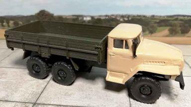 RUSAM-URAL-4320-10-410 — Автомобиль УРАЛ 4320 бортовой, 1:87, 1977, СССР