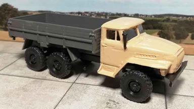 RUSAM-URAL-4320-10-450 — Автомобиль УРАЛ 4320 бортовой, 1:87, 1977, СССР