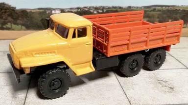 RUSAM-URAL-4320-20-420 — УРАЛ 4320 тягач Аварийный (высокий борт), 1:87, 1977, СССР