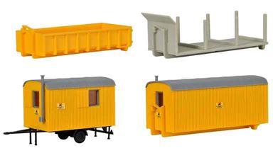 KIBRI 15700 — Строительные бытовки (вагончики) и оборудование стройплощадки, 1:87