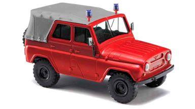 BUSCH 52102 — Автомобиль УАЗ 469 пожарной службы с крышей (тент), 1:87, 1972—2007, СССР