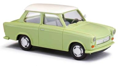 BUSCH 53106 — Автомобиль седан Trabant®  P601 зеленый с белой крышей, 1:87