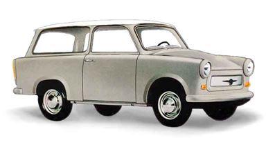 BUSCH 53206 — Седан Trabant® P601 серый с белой крышей, 1:87, 1963—1990