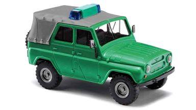 BUSCH 52101 — Автомобиль УАЗ 469 пограничной службы с крышей (тент), 1:87